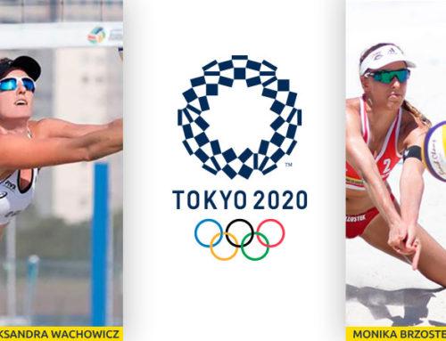 FUNDACJA SIATKÓWKI PLAŻOWEJ wspierać będzie doOlimpiady TOKIO 2020, powołaną doKadry Polski parę zawodniczek siatkówki plażowej Monikę Brzostek iAleksandrę Wachowicz.